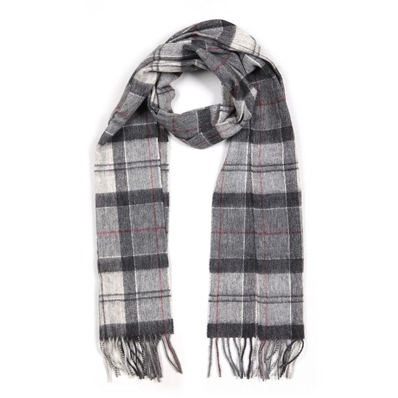 Barbour Lifestyle Womens Grey Tartan Scarf main image