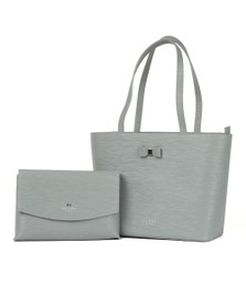 Ted Baker Womens Grey Deannah Bow Detail Shopper