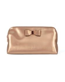 Ted Baker Womens Bronze Vanitee Bow Detail Washbag