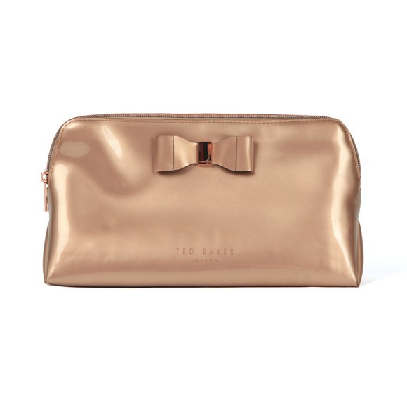 Ted Baker Womens Bronze Vanitee Bow Detail Washbag main image