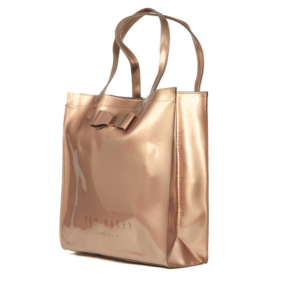 Ted Baker Womens Bronze Sofcon Bow Detail Large Icon Bag main image