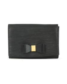 Ted Baker Womens Black Spriggs Bow Detail Flap Mini Purse