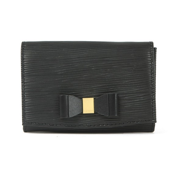 Ted Baker Womens Black Spriggs Bow Detail Flap Mini Purse main image