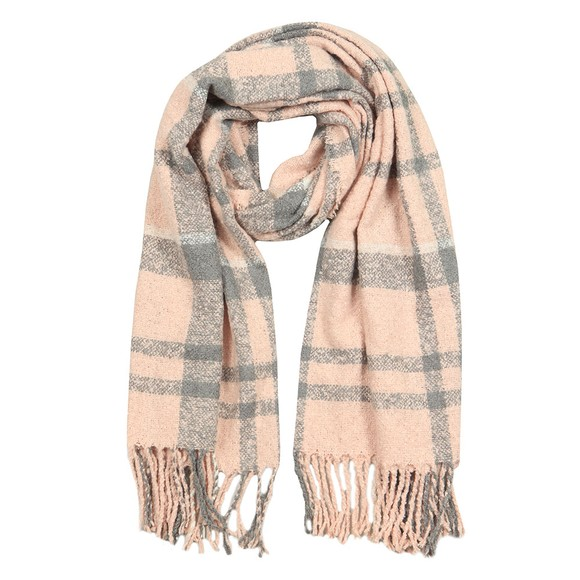 Barbour Lifestyle Womens Pink Tartan Boucle Scarf main image