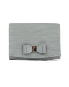 Ted Baker Womens Grey Spriggs Bow Detail Flap Mini Purse