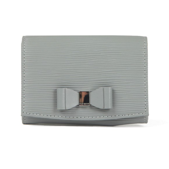 Ted Baker Womens Grey Spriggs Bow Detail Flap Mini Purse main image