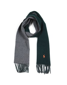 Polo Ralph Lauren Womens Green Blanket Oblong Scarf