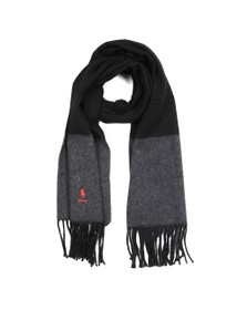 Polo Ralph Lauren Womens Black Solid Fringe Scarf