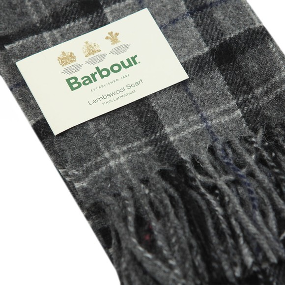 Barbour Lifestyle Mens Black Tartan Lambswool Scarf main image