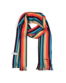 PS Paul Smith Mens Black Twisted Artist Scarf