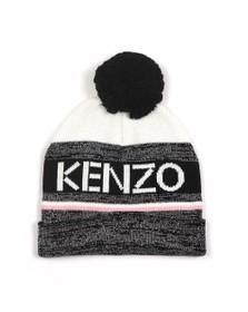 Kenzo Kids Girls Blue Kenzo Sport Line Bobble Hat