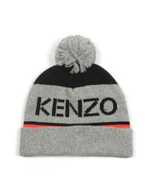 Kenzo Kids Boys Grey Logo Bobble Hat