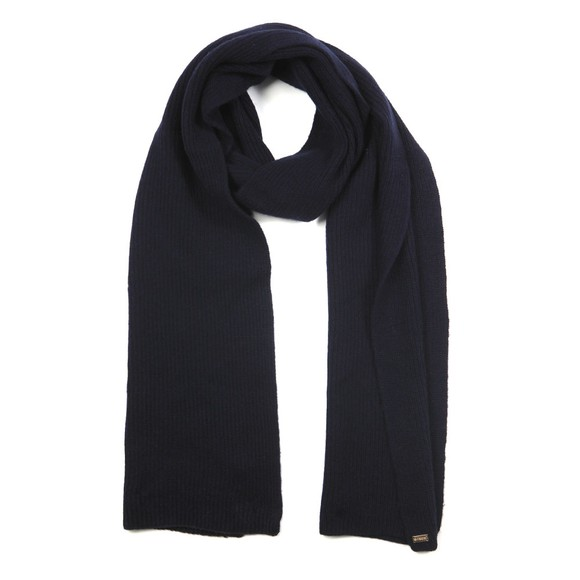 Superdry Womens Blue Heritage Ribbed Scarf main image