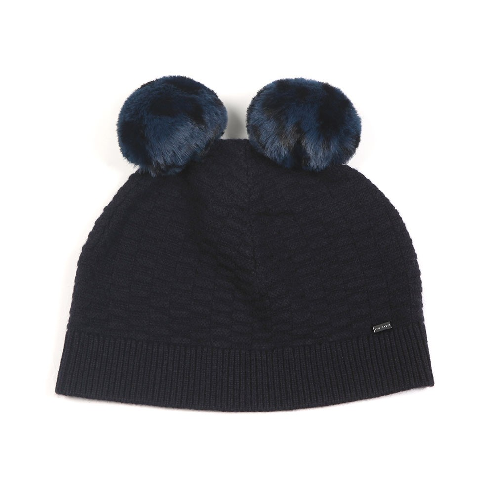 Leysaai Double Faux Fur Pom Stitch Hat main image