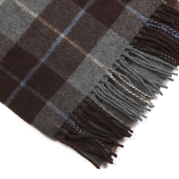 Eton Mens Brown Large Check Scarf main image