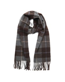 Eton Mens Brown Large Check Scarf