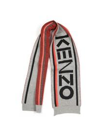Kenzo Kids Boys Grey Large Logo Scarf