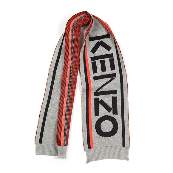 Kenzo Kids Boys Grey Large Logo Scarf