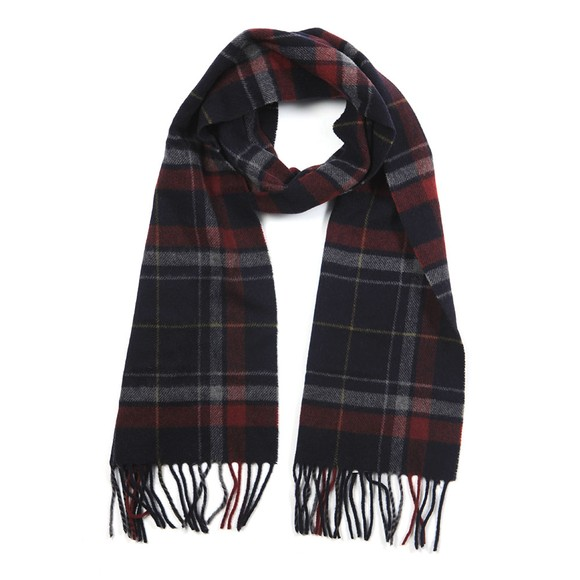 Eton Mens Blue Large Check Scarf