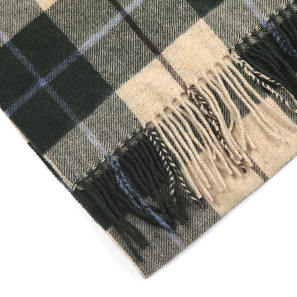 Eton Mens Green Large Check Scarf main image