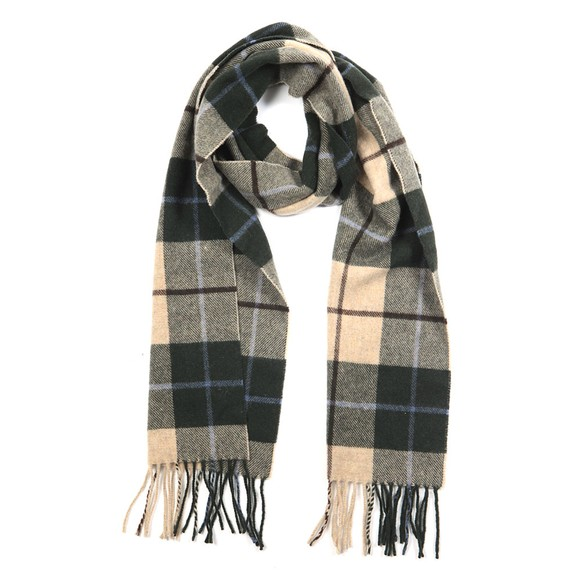 Eton Mens Green Large Check Scarf