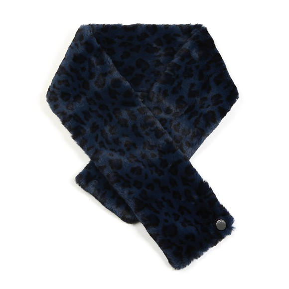 Ted Baker Womens Blue Leonnaa Exotic Faux Fur Scarf