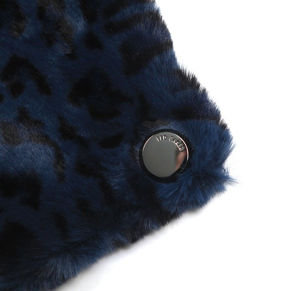 Ted Baker Womens Blue Leonnaa Exotic Faux Fur Scarf main image