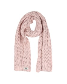 Ugg Womens Pink Chunky Knit Scarf