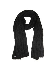 Ugg Womens Black Chunky Knit Scarf