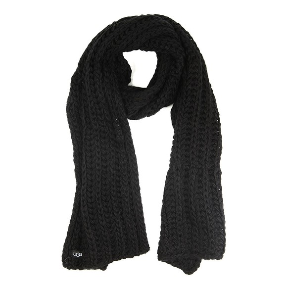 Ugg Womens Black Chunky Knit Scarf main image