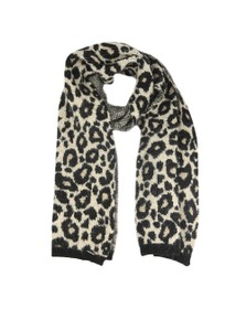 Superdry Womens Brown Lisa Leopard Scarf