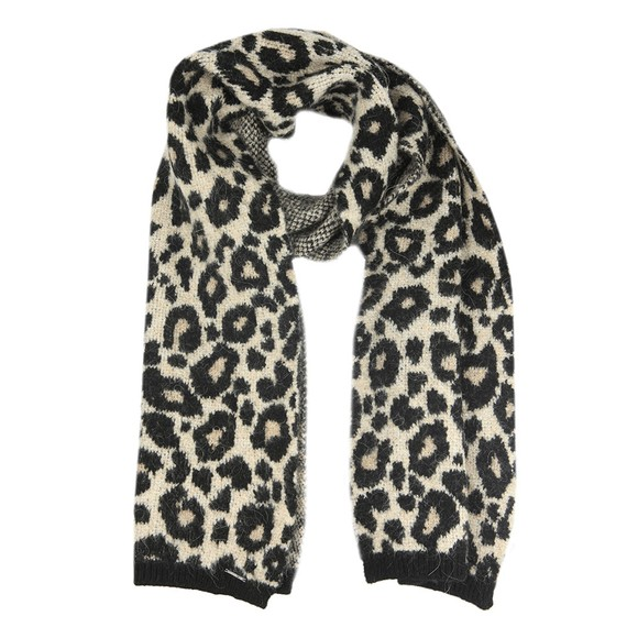 Superdry Womens Brown Lisa Leopard Scarf main image