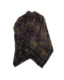 Barbour Lifestyle Womens Green Staffin Tartan Serape