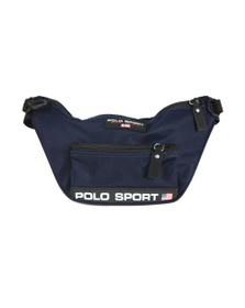 Polo Ralph Lauren Sport Mens Blue Crossbody Front Zip Bag