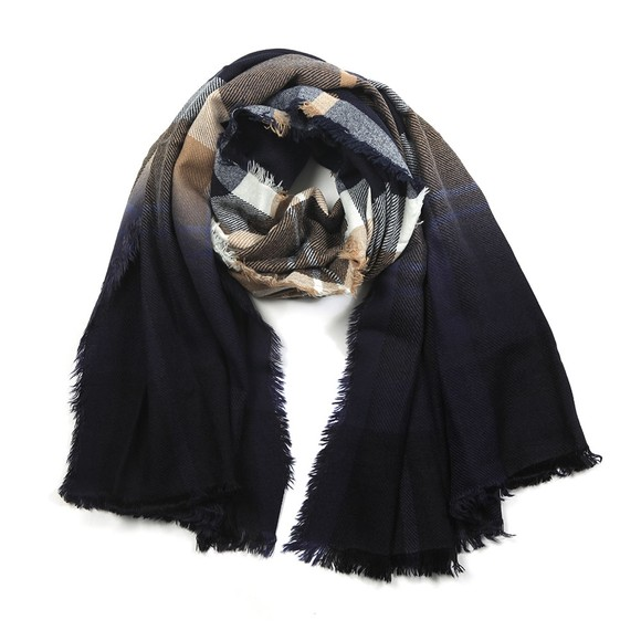 Barbour Lifestyle Womens Blue Glenn Tartan Scarf