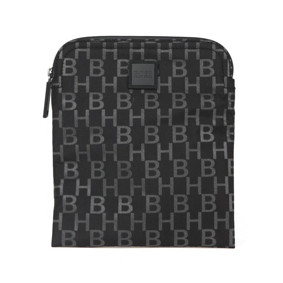 BOSS Mens Black Athleisure Pixel Allover Logo Bag