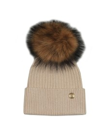 Holland Cooper Womens Brown Metallic Bobble Hat