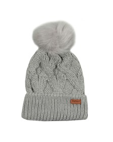 Barbour International Womens Grey Bridport Pom Hat