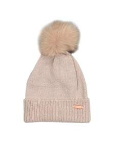 Superdry Womens Brown Heritage Ribbed Beanie