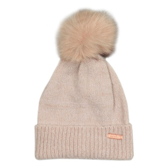 Superdry Womens Brown Heritage Ribbed Beanie main image