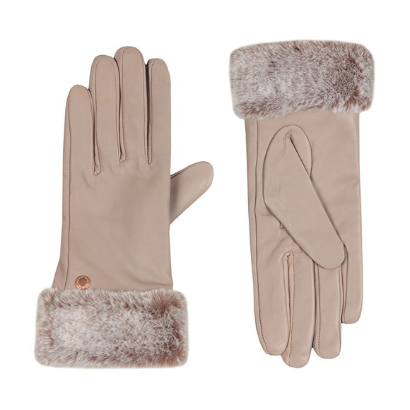 Barbour International Womens Off-White Kirk Leather Glove