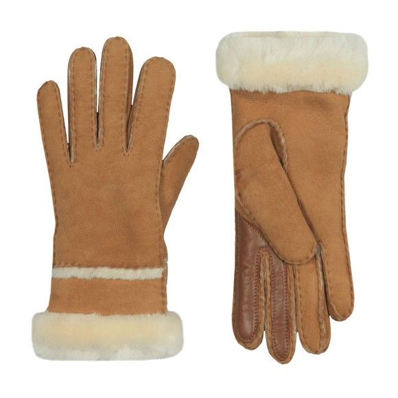 Ugg Womens Brown Seamed Tech Glove