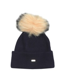 Superdry Womens Blue Heritage Ribbed Beanie