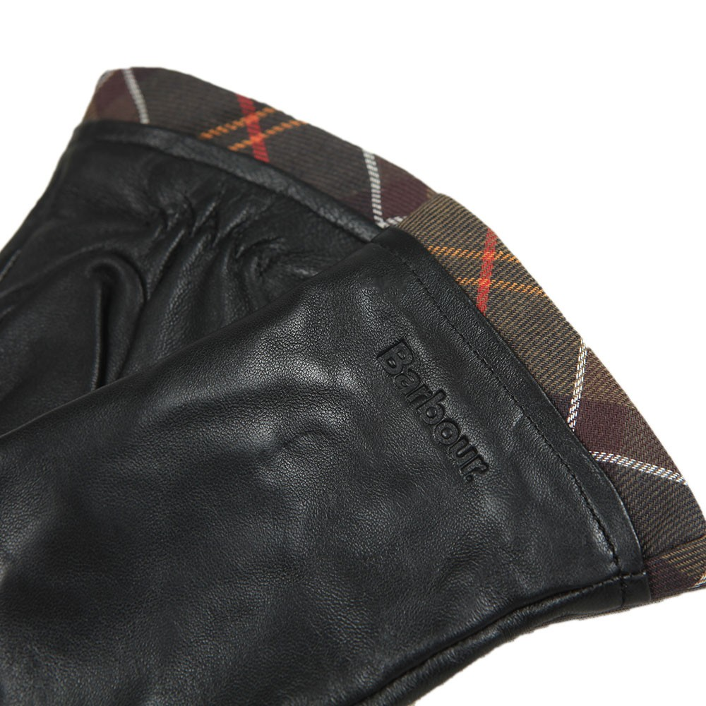 Tartan Trimmed Leather Glove main image