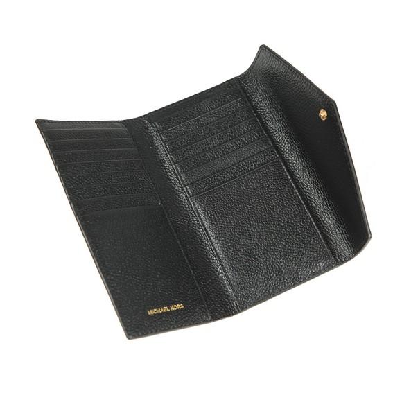 Michael Kors Womens Black Mott Leather Purse main image