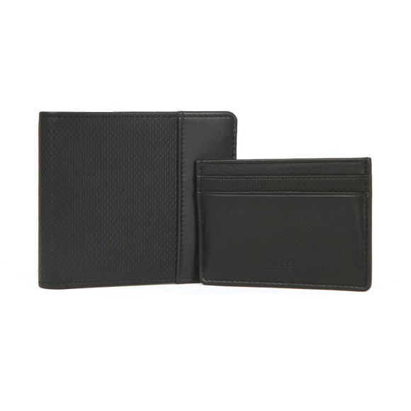 BOSS Mens Black Card Holder and Wallet