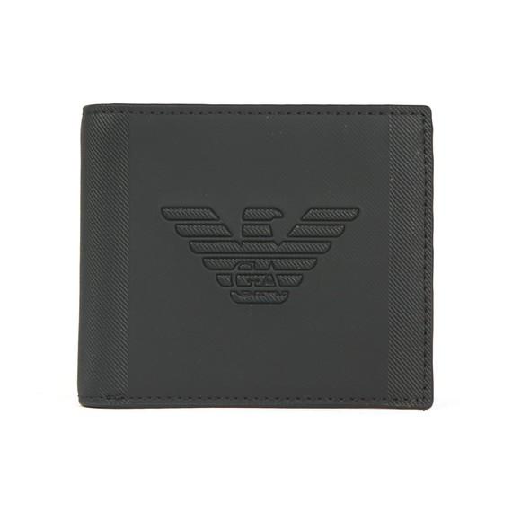 Emporio Armani Mens Black Bi Fold Large Logo Wallet main image