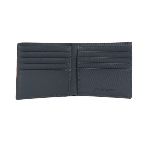 Emporio Armani Mens Blue Bi Fold Large Logo Wallet main image