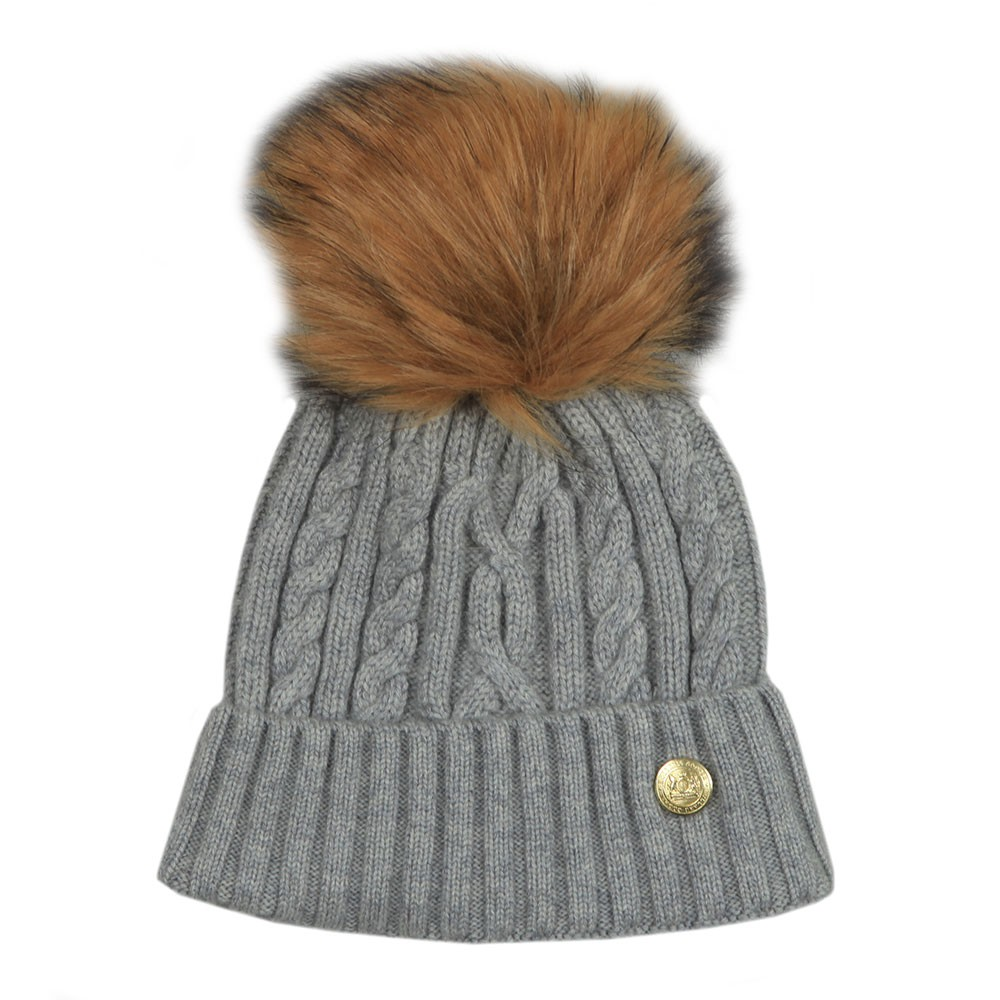 Cashmere Cable Knit Bobble Hat main image