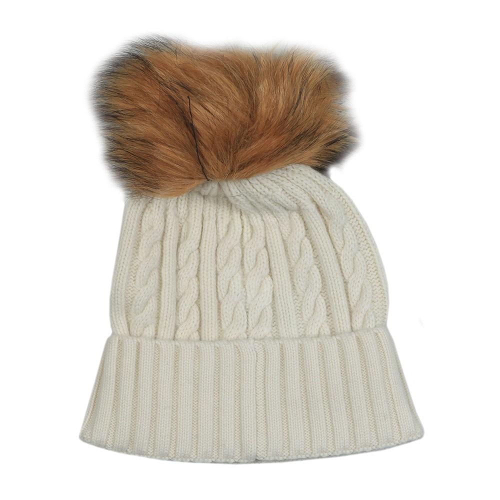 Cashmere Cable Knit Bobble Hat main image